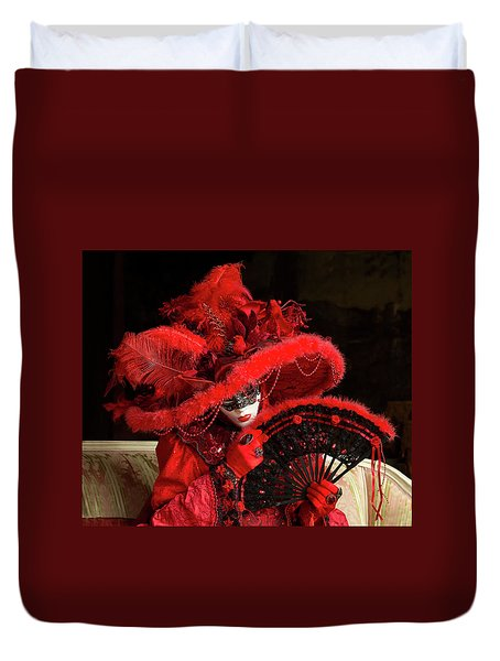Venetian Lady In Red I  Duvet Cover