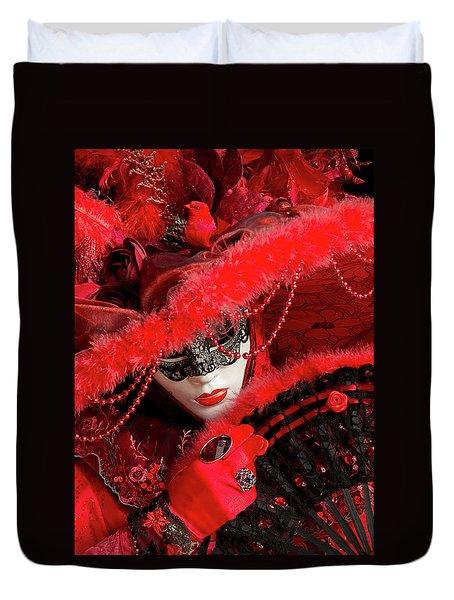 Venetian Lady In Red II  Duvet Cover