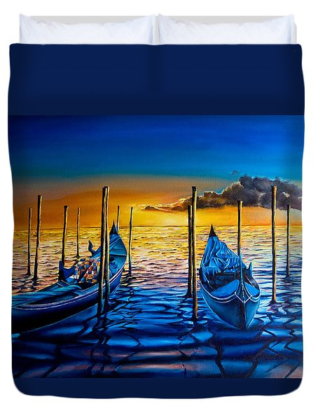 Venetian Lights 7 Duvet Cover