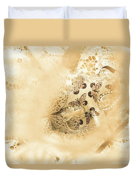 Venetian Performance Of Mystery Duvet Cover