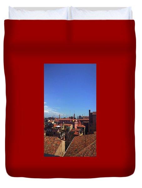 Duvet Cover featuring the photograph Venetian Skyline by Anne Kotan