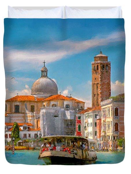 Venezia. Fermata San Marcuola Duvet Cover