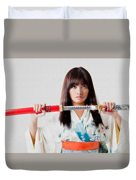 Vengeful Innocence  Duvet Cover by Rikk Flohr
