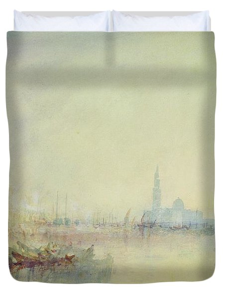 Venice - The Mouth Of The Grand Canal Duvet Cover by Joseph Mallord William Turner