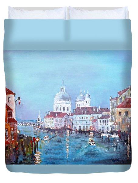 Venice At Dusk Duvet Cover