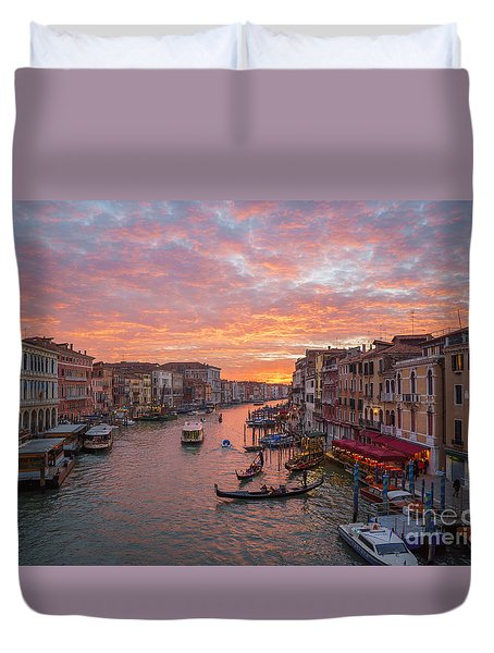 Venice At Sunset - Italy Duvet Cover