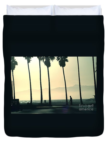 Venice Beach California Duvet Cover