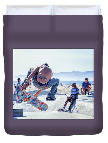 Venice Beach Skater Duvet Cover