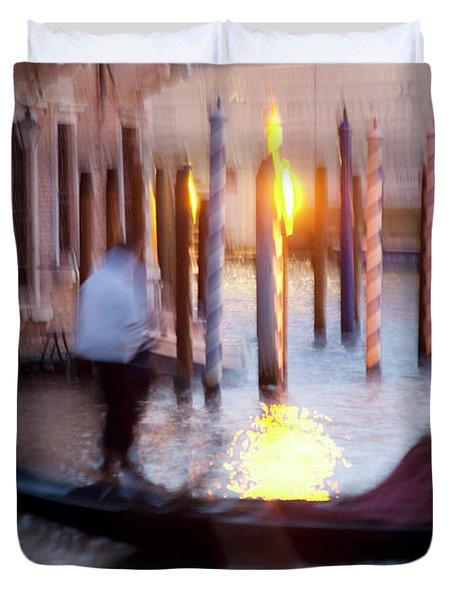 Venice Blue Hour 1 Duvet Cover by Heiko Koehrer-Wagner