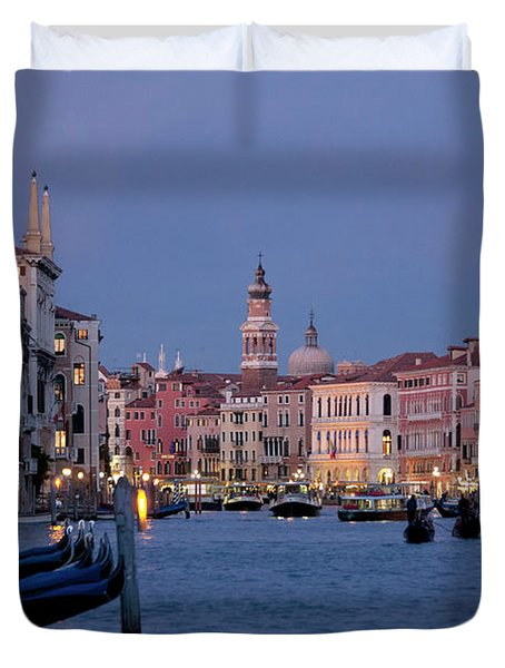Venice Blue Hour 2 Duvet Cover
