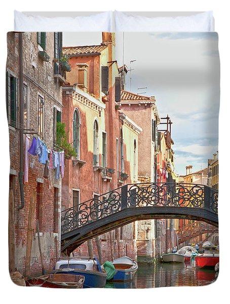 Venice Bridge Crossing 5 Duvet Cover by Heiko Koehrer-Wagner