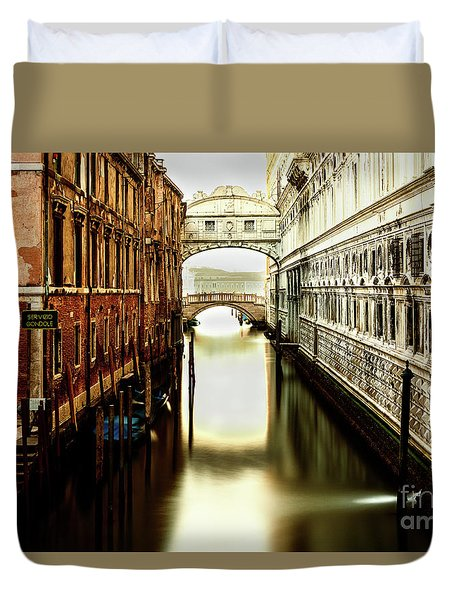 Venice Bridge Of Sighs Duvet Cover