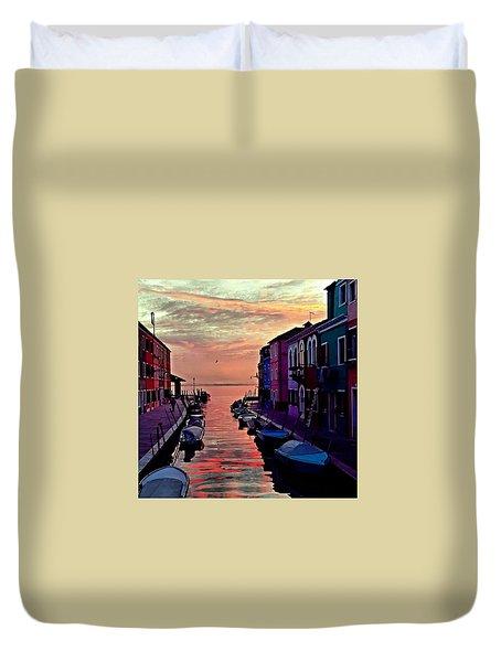 Venice Burano Duvet Cover