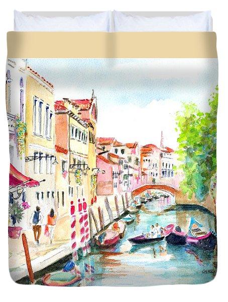 Venice Canal Boscolo Venezia Duvet Cover