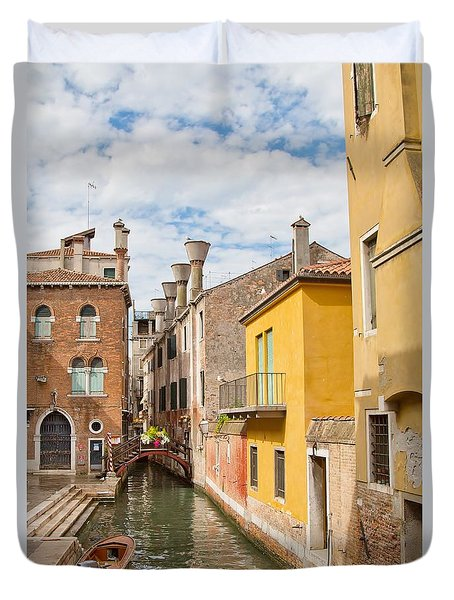 Venice Canal Duvet Cover