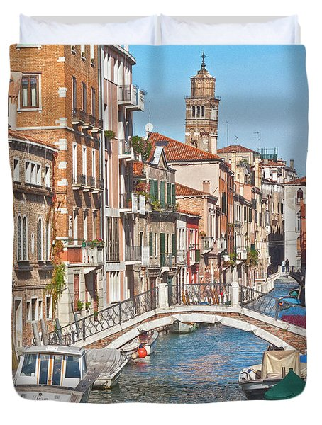 Venice Canaletto Bridging Duvet Cover by Heiko Koehrer-Wagner