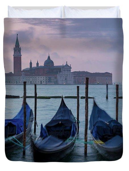 Duvet Cover featuring the photograph Venice Dawn IIi by Brian Jannsen