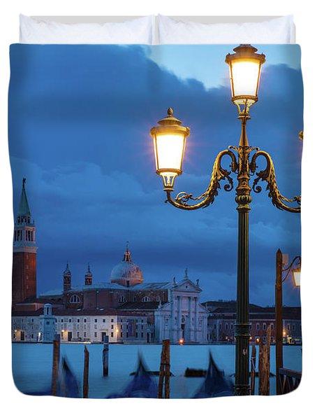 Duvet Cover featuring the photograph Venice Dawn V by Brian Jannsen