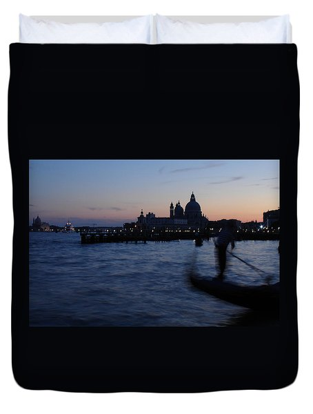 Venice Dusk Duvet Cover by Ed Lee