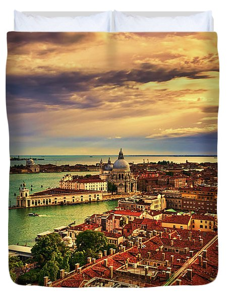 From The Bell Tower In Venice, Italy Duvet Cover