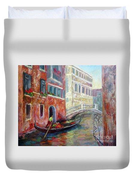Venice Gondola Ride Duvet Cover
