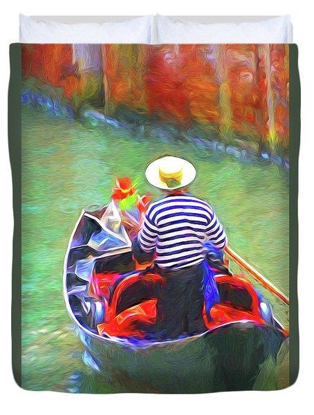 Venice Gondola Series #3 Duvet Cover by Dennis Cox