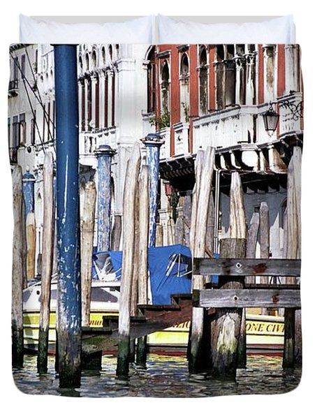Duvet Cover featuring the photograph Venice Grand Canal by Allen Beatty