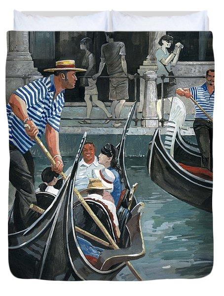Venice. Il Bacino Orseolo Duvet Cover