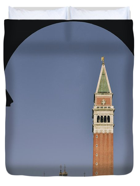 Venice In A Frame Duvet Cover