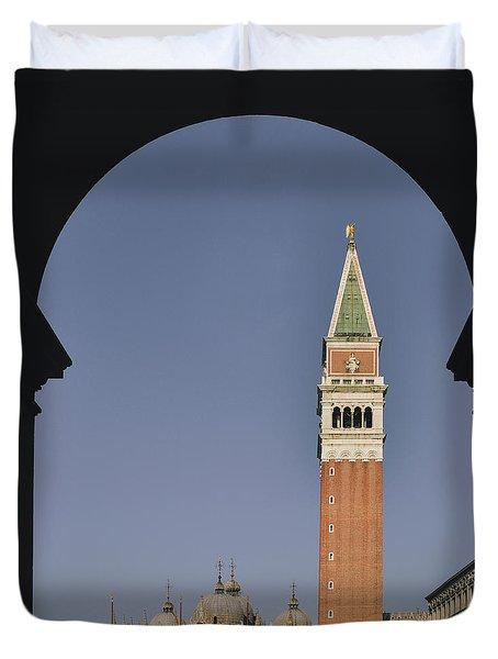 Venice In A Frame Duvet Cover