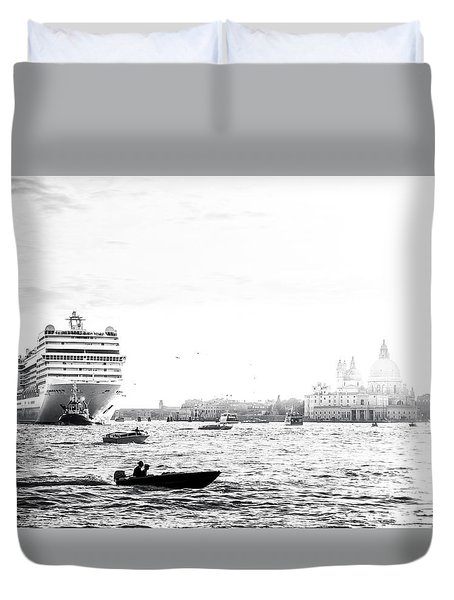 Venice In The Age Of Mass Tourism Duvet Cover