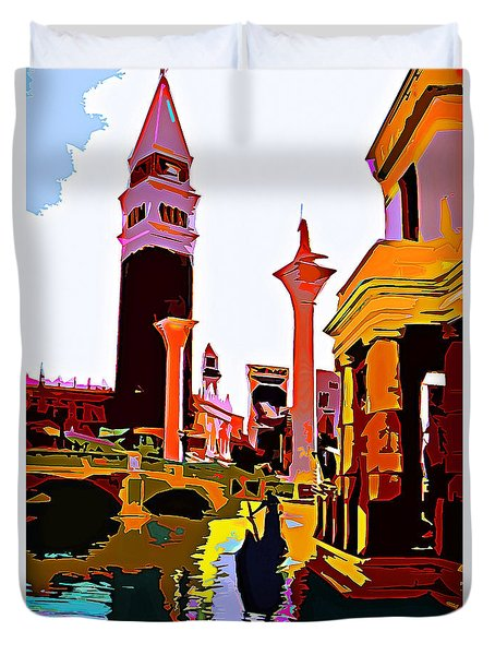 Venice In Vegas Duvet Cover