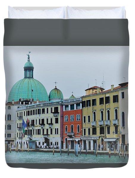Venice In Winter Duvet Cover
