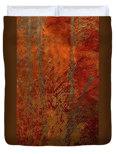 Duvet Cover featuring the mixed media Venice by Michael Rock