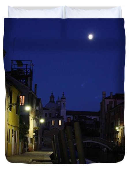 Venice Moon Duvet Cover by Pat Purdy