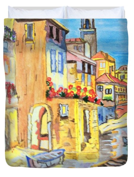 Venice On A Summer Afternoon Duvet Cover by Connie Valasco