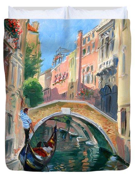 Venice Ponte Widmann Duvet Cover