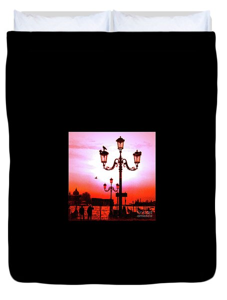 Venice Sunset Duvet Cover