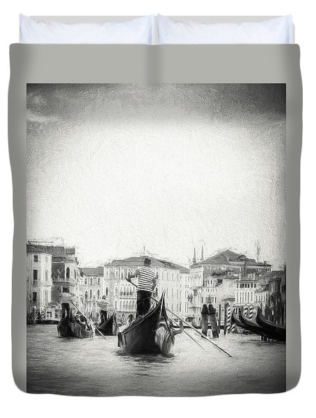 Venice Transportation Duvet Cover