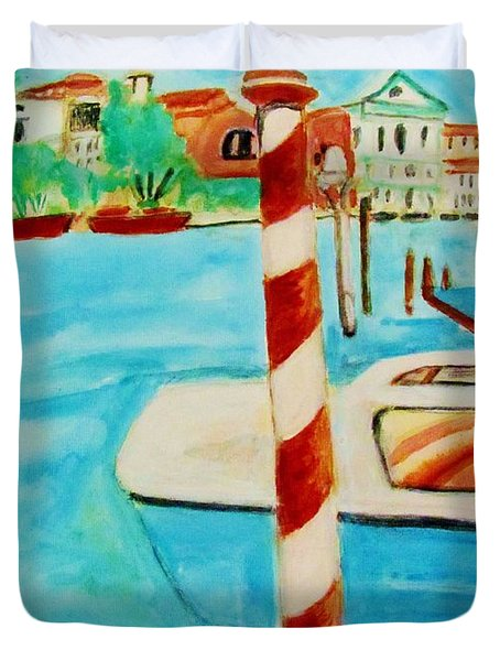 Venice Travel By Boat Duvet Cover