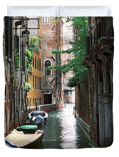 Venice Trees Duvet Cover