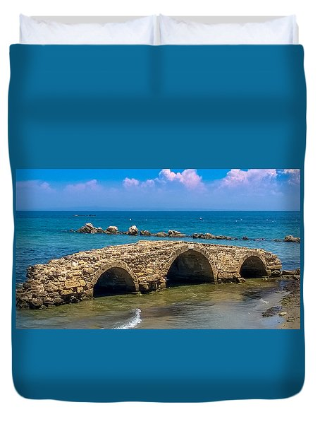Venitian Bridge Argassi Duvet Cover