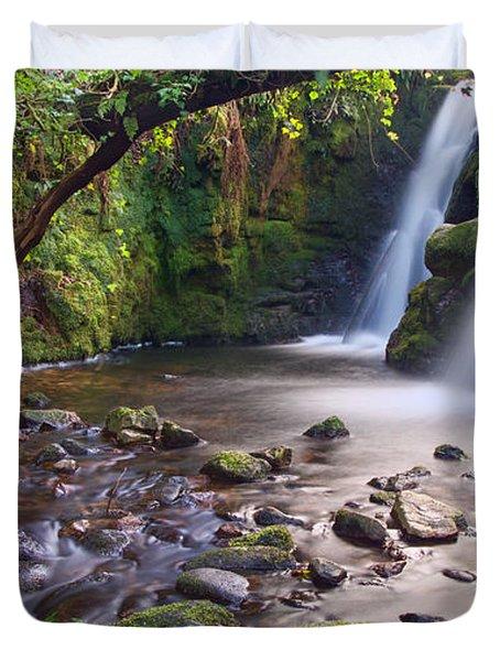 Vennford Waterfall On Dartmoor Duvet Cover