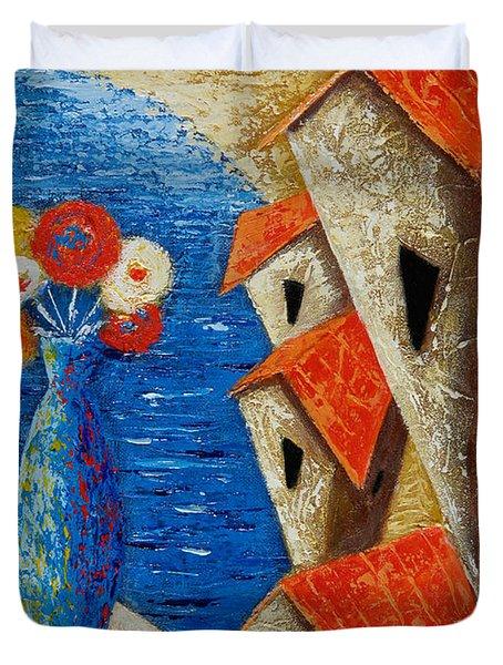 Ventana Al Mar Duvet Cover by Oscar Ortiz