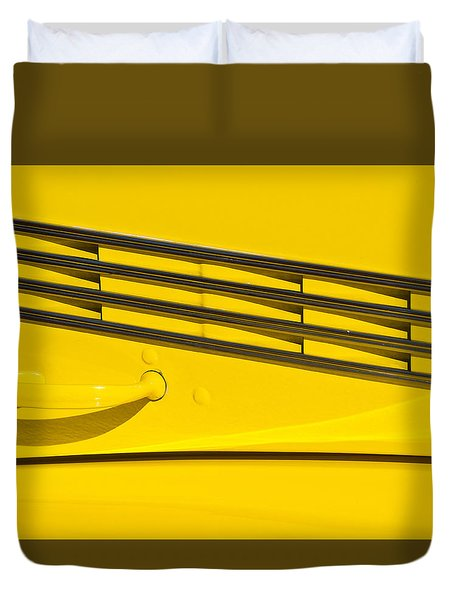 Vented Chrome To Yellow Duvet Cover