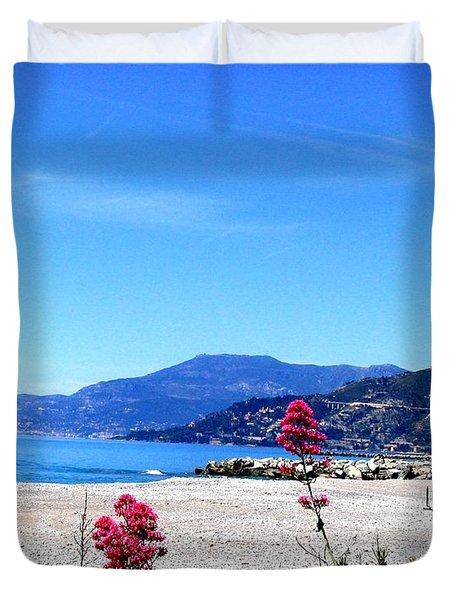 Duvet Cover featuring the photograph Ventimiglia Italia by Michelle Dallocchio