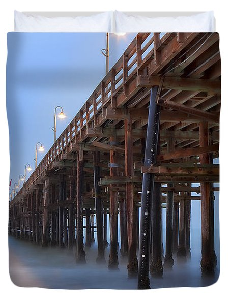 Ventura Ca Pier At Dawn Duvet Cover
