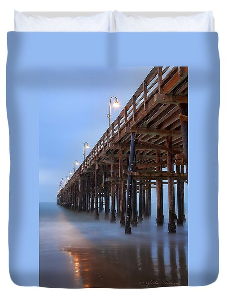 Ventura Ca Pier At Dawn Duvet Cover