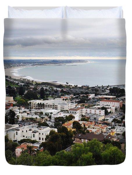 Ventura Coast Skyline Duvet Cover