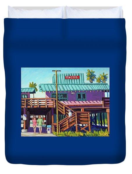 Ventura Pier - Tacos Duvet Cover